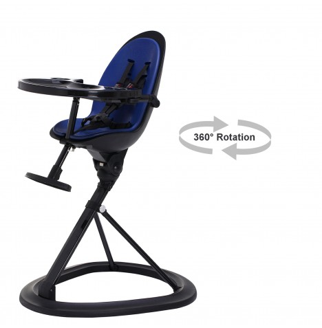 ickle bubba Orb Black Highchair - Black / Blue