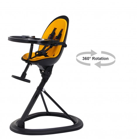 ickle bubba Orb Black Highchair - Black / Yellow