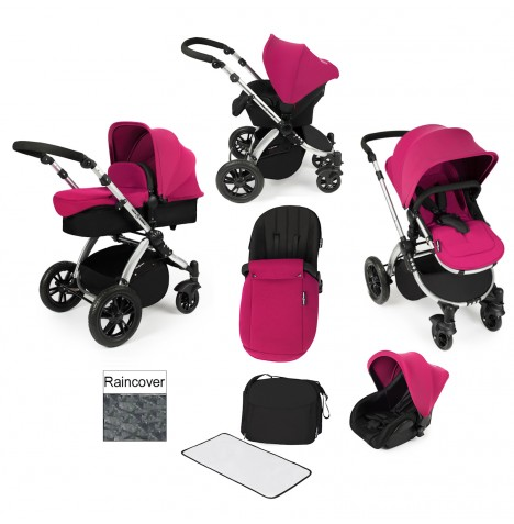 ickle bubba Stomp V2 All In One Travel System - Pink