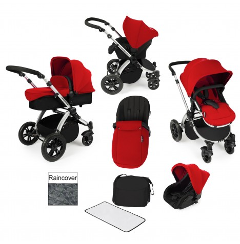 ickle bubba Stomp V2 All In One Travel System - Red