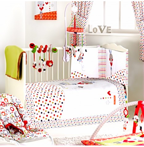 Red Kite 4 Piece Cotton Tail Cosi Cot / Cot Bed Bedding Set