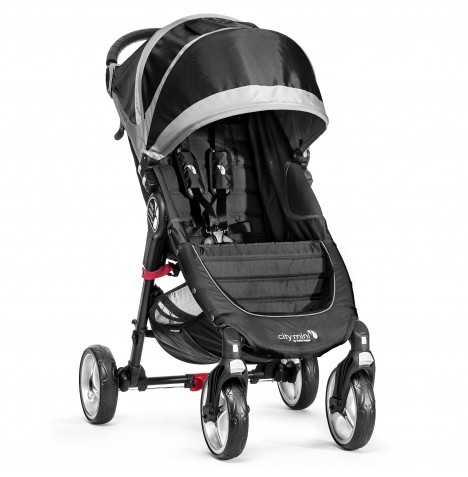 New  Baby Jogger City Mini 4 Wheel Single Stroller - Black