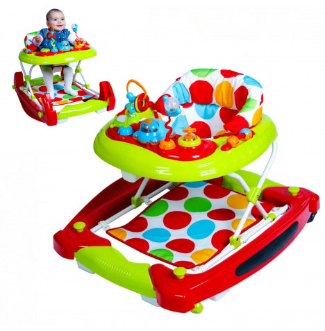 Red Kite Go Round Twist Baby Walker / Rocker with Activity Centre - Spots