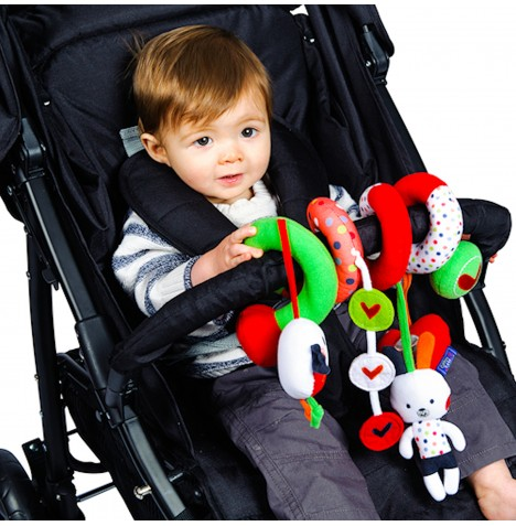 Red Kite Spiraloo Pushchair / Car Seat Toy - Cotton Tail