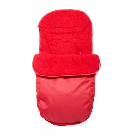 Clair De Lune Salisbury Fleeced Pushchair Footmuff - Red