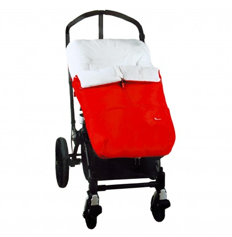 Interbaby Designer Plush Pushchair Polar Cocoon Footmuff - Red