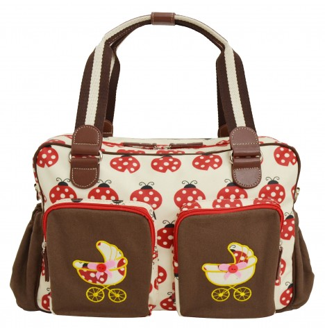 4baby Designer Fashion Baby Changing Bag - Ladybird