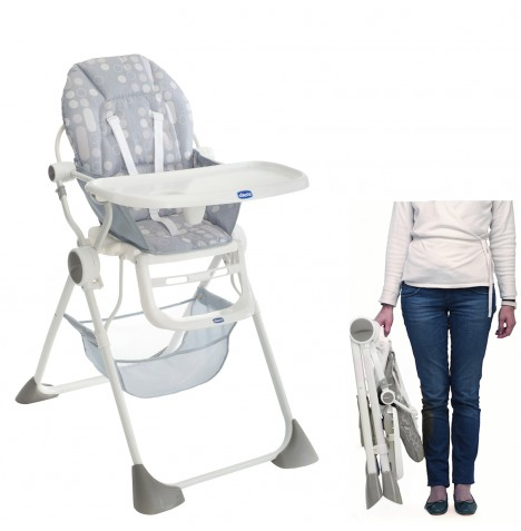 Chicco Pocket Lunch Baby Highchair - Silver