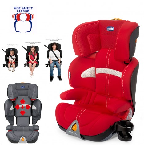 chicco race red oasys group 2 3 car seat booster childs reclining carseat ebay. Black Bedroom Furniture Sets. Home Design Ideas