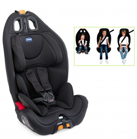 Chicco Gro-Up Group 123 Car Seat - Black  sc 1 st  eBay & CHICCO BLACK GRO - UP GROUP 123 BABY CAR SEAT RECLINING CHILDS ... islam-shia.org