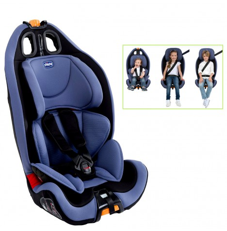 chicco blue gro up group 123 baby car seat reclining. Black Bedroom Furniture Sets. Home Design Ideas
