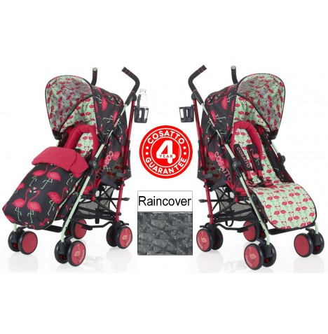 Cosatto Supa Pushchair Stroller - Flamingo Fling
