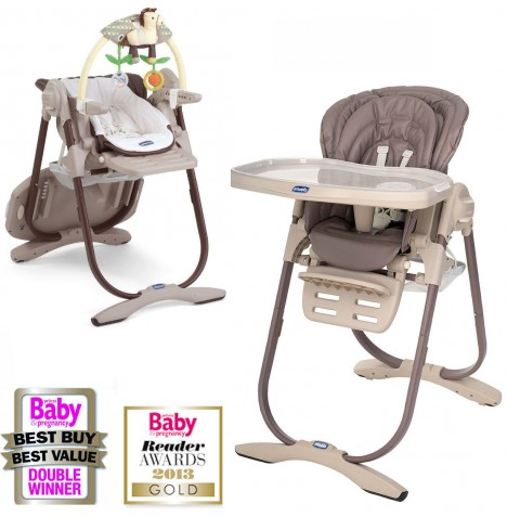 New chicco cocoa polly magic highchair reclining baby for Chaise haute polly magic
