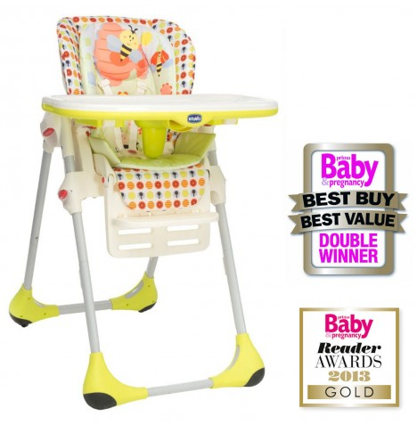 New Chicco Polly 2 In 1 Highchair Sunny Height Adjustable