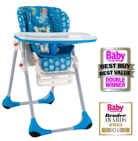 Chicco Polly 2 in 1 Baby Highchair - Moon