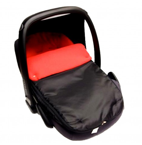 4Baby Shower Proof Fleece Car Seat Footmuff - Red