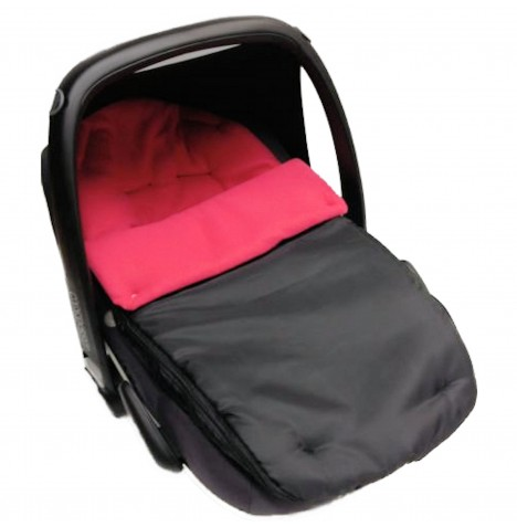4Baby Shower Proof Fleece Car Seat Footmuff - Cerise