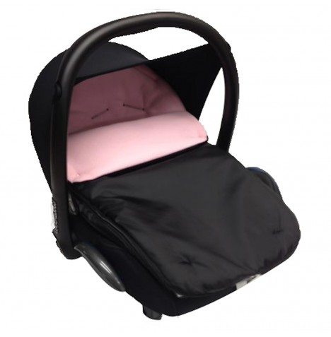 4Baby Shower Proof Fleece Car Seat Footmuff - Pink