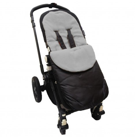 4Baby Shower Proof Fleece Pushchair Footmuff - Grey