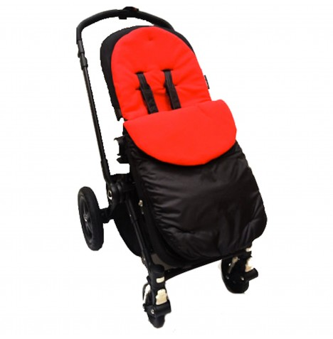 4Baby Shower Proof Fleece Pushchair Footmuff - Red