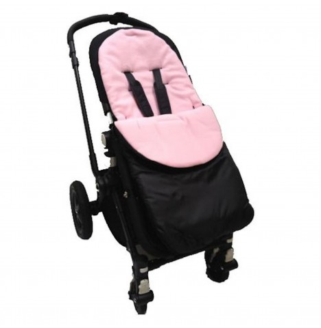 4Baby Shower Proof Fleece Pushchair Footmuff - Pink