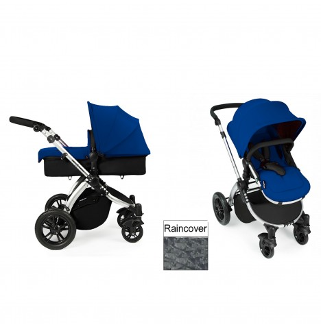 Ickle Bubba Stomp V2 Silver 2 in 1 Pushchair - Blue