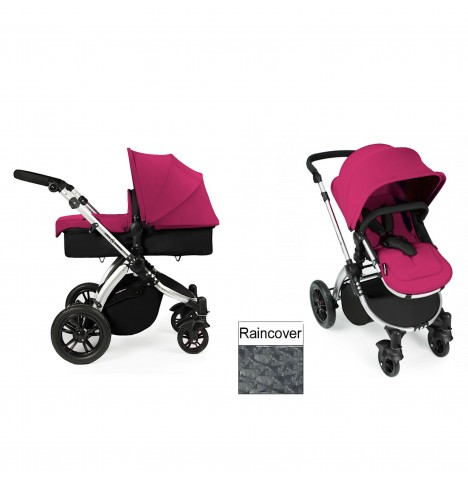 Ickle Bubba Stomp V2 Silver 2 in 1 Pushchair - Pink