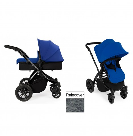 Ickle Bubba Stomp V2 Black 2 in 1 Pushchair - Blue