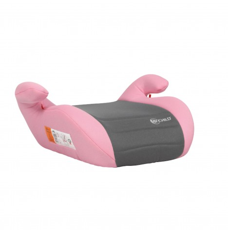 My Child Group 2,3 Button Booster Seat - Pink / Grey