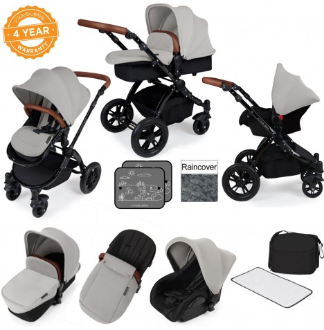ickle bubba Stomp V2 Black All In One Travel System - Silver