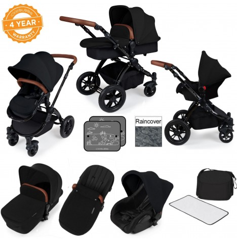 ickle bubba Stomp V2 Black All In One Travel System - Black