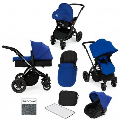 ickle bubba Stomp V2 Black All In One Travel System - Blue