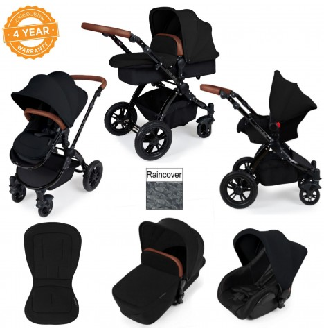 ickle bubba Stomp V2 Black 3 in 1 Travel System - Black