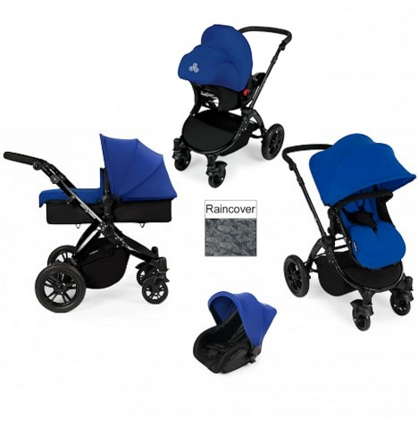 ickle bubba Stomp V2 Black 3 in 1 Travel System - Blue