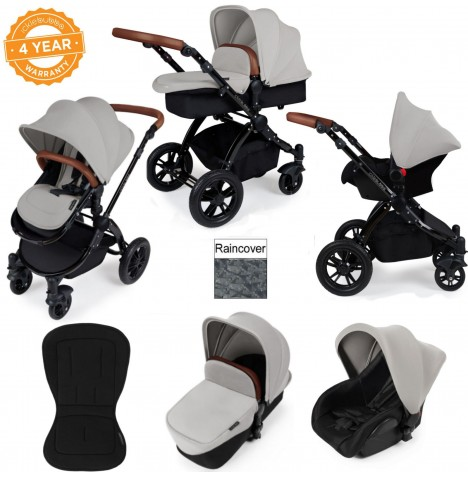 ickle bubba Stomp V2 Black 3 in 1 Travel System - Silver