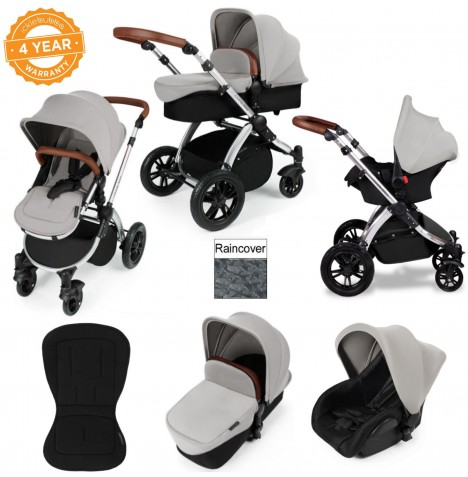 ickle bubba Stomp V2 Silver 3 in 1 Travel System - Silver