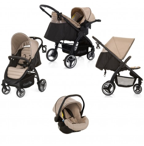 Hauck Lift Up 4 Shop n Drive Travel System - Sand