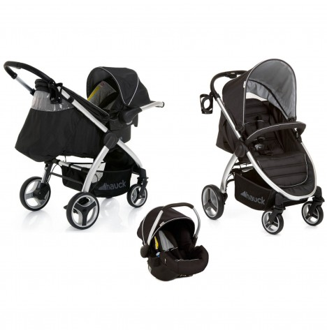 Hauck Lift Up 4 Shop n Drive Travel System - Black