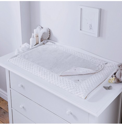 4baby Luxury Padded Baby Changing Mat - Dimple White