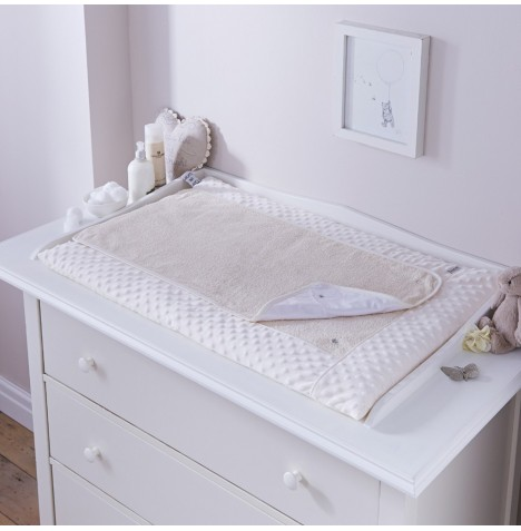 4baby Luxury Padded Baby Changing Mat - Dimple Cream