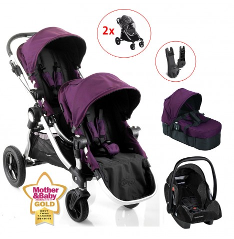 Baby Jogger Amethyst City Select Double Tandem Twin Travel