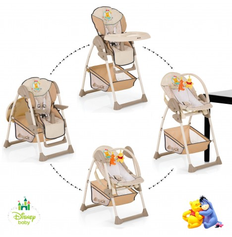 Hauck Disney Sit n Relax 2 in 1 Highchair / Bouncer - Pooh Ready To Play
