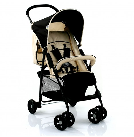 Hauck Sport Pushchair with Raincover - Almond / Caviar