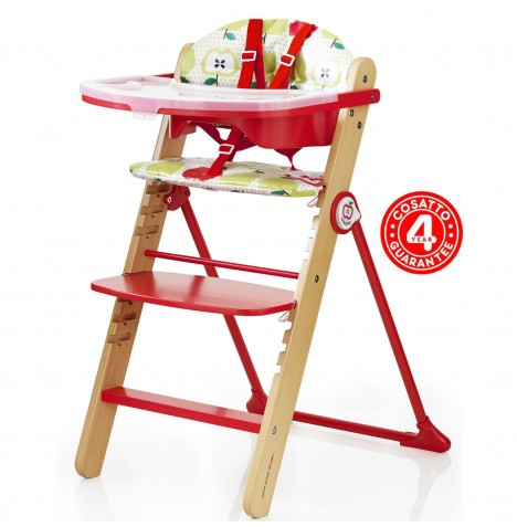New Cosatto Strudle Waffle Highchair Baby Adjustable High