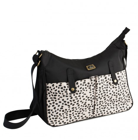 Caboodle Every Day Changing Bag - Black / Spot Pockets