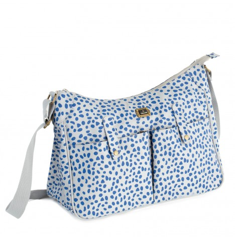 Caboodle Every Day Changing Bag - Grey / Blue Spots