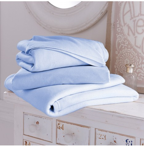Clair De Lune 3 Piece Baby Moses Basket Sheet & Blanket Set - Blue