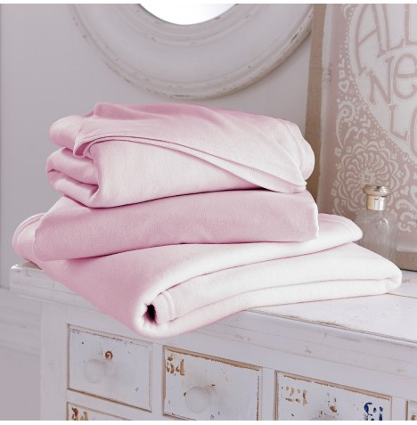Clair De Lune 3 Piece Cot Bed Sheets & Blanket Set - Pink