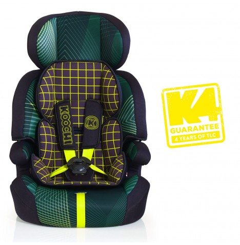 Koochi Motohero Group 123 Car Seat - Green Hyperwave