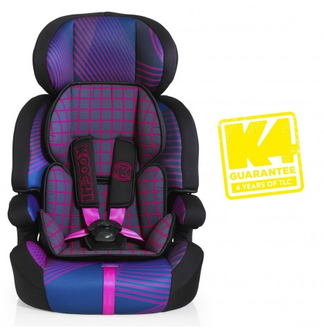 Koochi Motohero Group 123 Car Seat - Pink Hyperwave